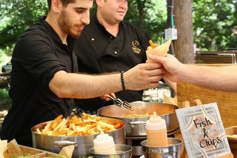 דוכני מזון לאירועים | Fish & Chips