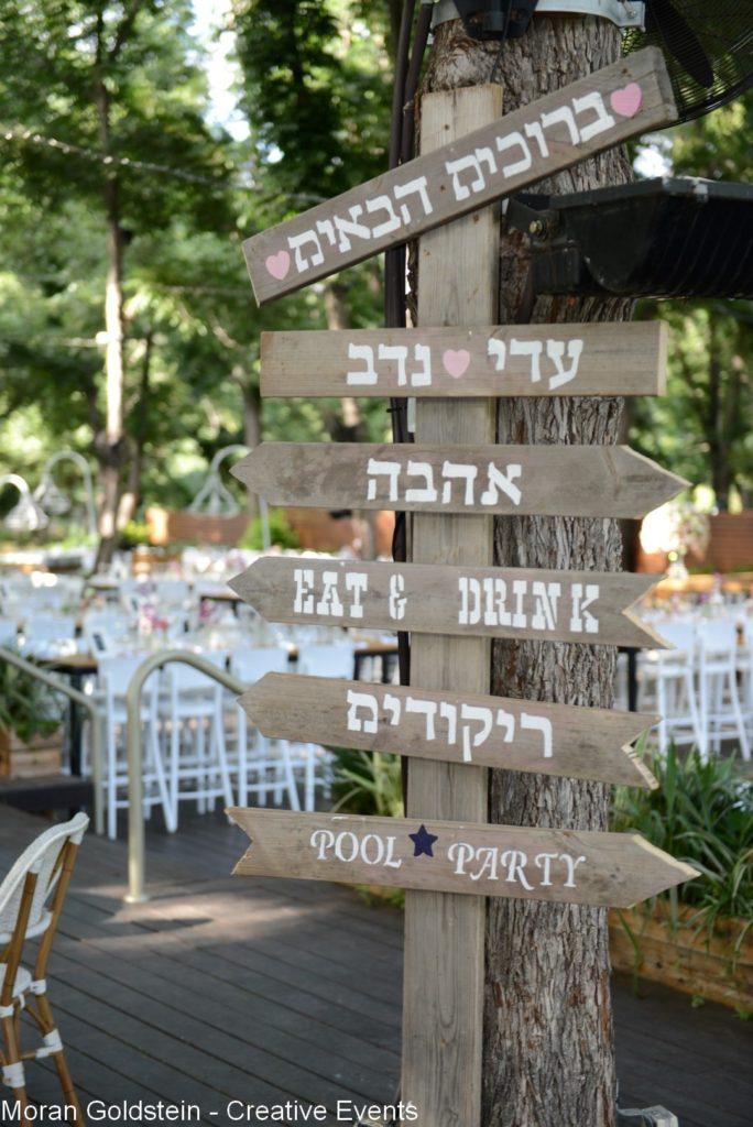 רעיונות לחתונה | שילוט